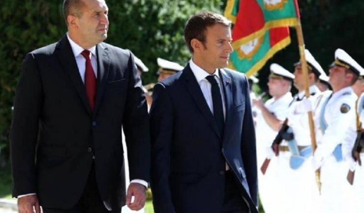 Preşedintele Bulgariei, Rumen Radev, şi președintele francez, Emmanuel Macron