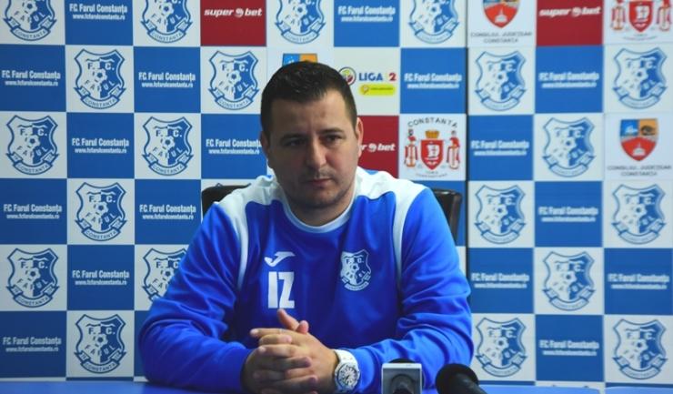 """Ianis Zicu, antrenor principal FC Farul: """"Cred că putem să obţinem o victorie, chiar dacă întâlnim un adversar redutabil"""""""