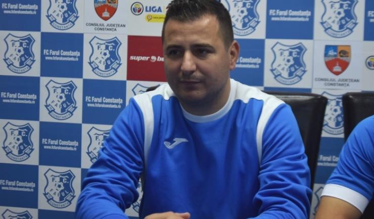"""Ianis Zicu, antrenor FC Farul: """"O primă parte a campionatului cu lucruri bune, dar și mai puțin bune"""""""