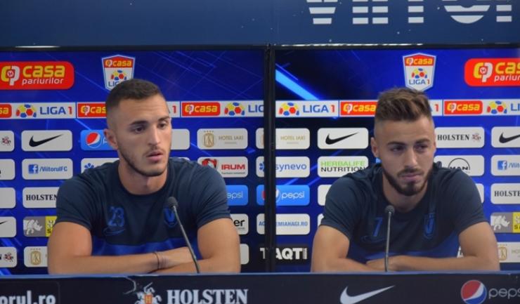 Virgil Ghiță şi Andrei Ciobanu, doi dintre fotbaliştii de... viitor de la Viitorul