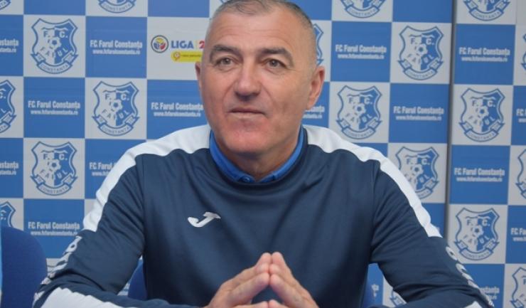 Antrenorul Petre Grigoraș consideră că Farul pornește cu prima șansă în meciul de miercuri