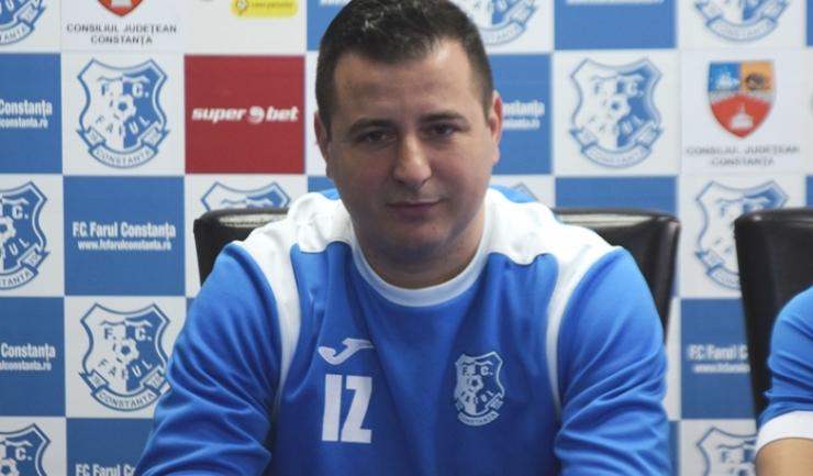 """Ianis Zicu, antrenor principal FC Farul: """"Sunt fericit că am obținut această victorie"""""""