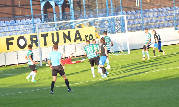 Alexi Pitu a deschis scorul în partida de vineri