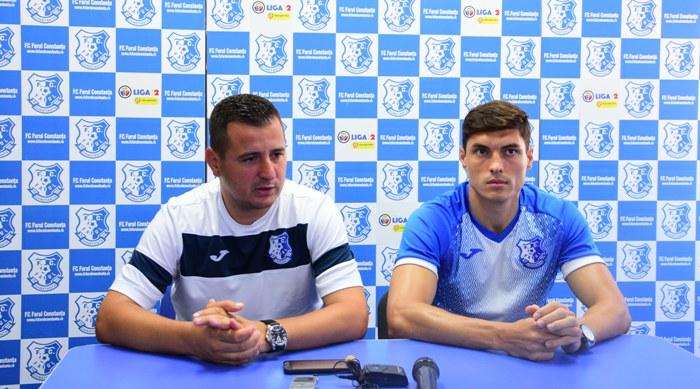 Antrenorul Ianis Zicu şi fundaşul Paul Antoche aşteaptă cu încredere partida de luni