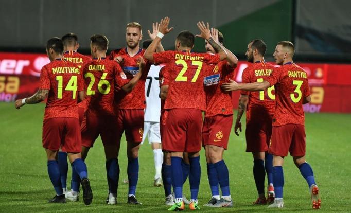 FCSB s-a impus în deplasare prin golul marcat de Panţîru (sursa foto: Facebook FCSB)
