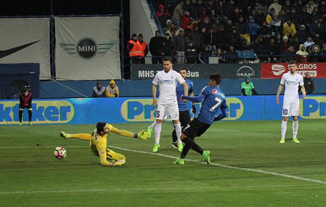 După transferul de la Viitorul la FCSB, Florinel Coman a reuşit duminică seară primele goluri pentru echipa bucureşteană