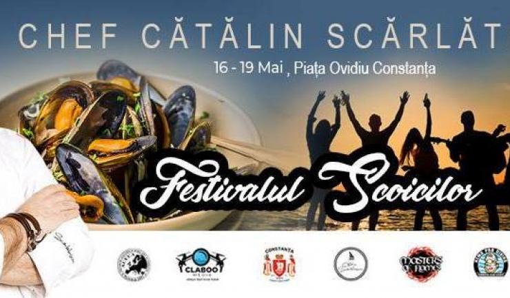 Ediția a IV-a a Festivalului Scoicilor, eveniment organizat de Chef Cătălin Scărlătescu, debutează la 16 mai în Piața Ovidiu din Constanța