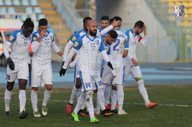 Georgian Păun (nr. 14) a avut, din nou, o evoluţie foarte bună (sursa foto: Facebook FC Farul Constanţa)