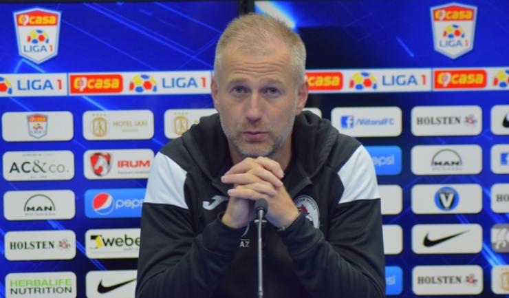 Antrenorul Edward Iordănescu o menţine pe Gaz Metan Mediaş pe loc de play-off