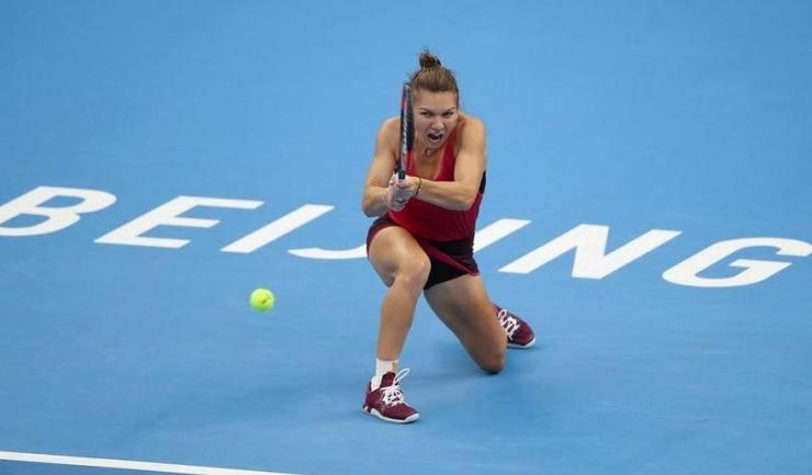 Simona Halep a jucat foarte bine şi în partida cu Daria Kasatkina (sursa foto: Facebook)