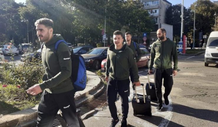 Handbaliștii constănţeni s-au întors acasă, la puțin timp după plecare (sursa foto: www.hcdobrogeasud.ro)
