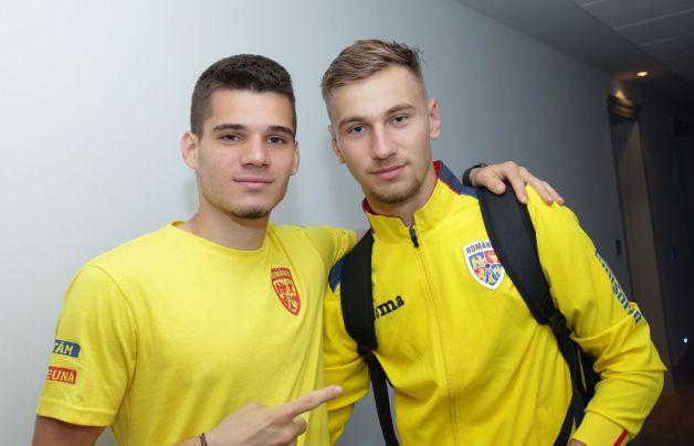 Ianis Hagi și Denis Drăguș (sursa foto: www.frf.ro)