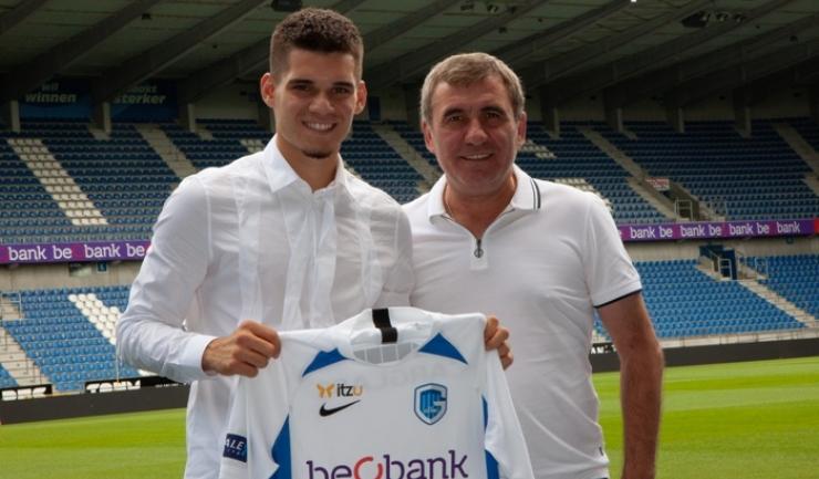 Ianis Hagi şi Gheorghe Hagi (sursa foto: www.fcviitorul.ro)