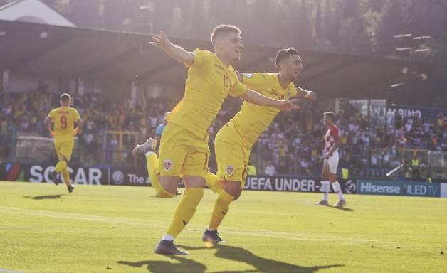 Ianis Hagi a înscris al doilea gol al României (sursa foto: www.frf.ro)