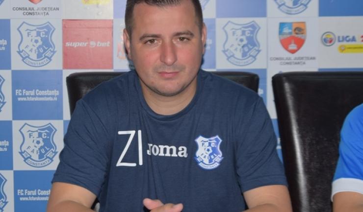 """Ianis Zicu, antrenor FC Farul: """"Trebuie să fim pregătiți de un meci foarte greu"""""""
