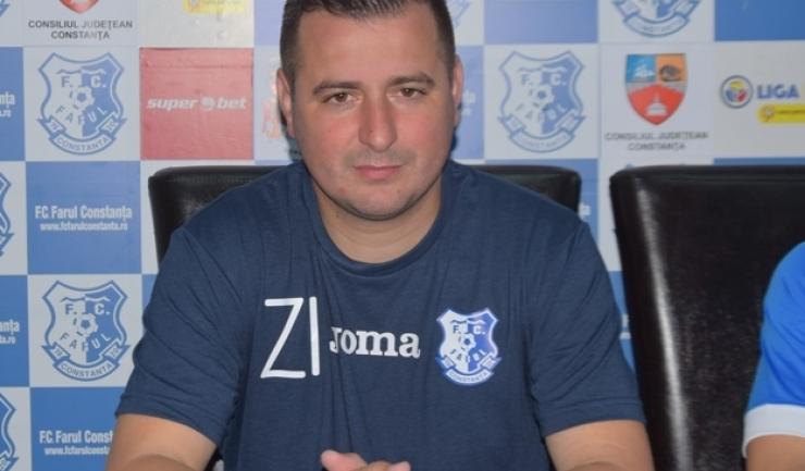 """Ianis Zicu, antrenor FC Farul: """"Este meritul băieților, pentru că în prima repriză au tratat fotbalul sută la sută"""""""