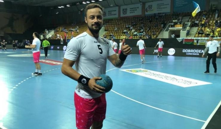 Ionuţ Nistor a înscris 14 goluri pentru HCDS în meciul de joi (sursa foto: www. hcdobrogeasud.ro)