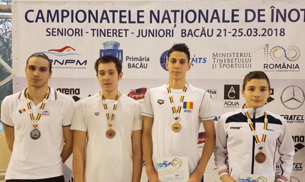 Răzvan Grădinaru, Atila Abibula, Sebastian Tulea şi Alexandru Preda au dominat probele de bras la CN de la Bacău