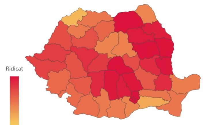 Harta - cazuri Covid, datelazi.ro