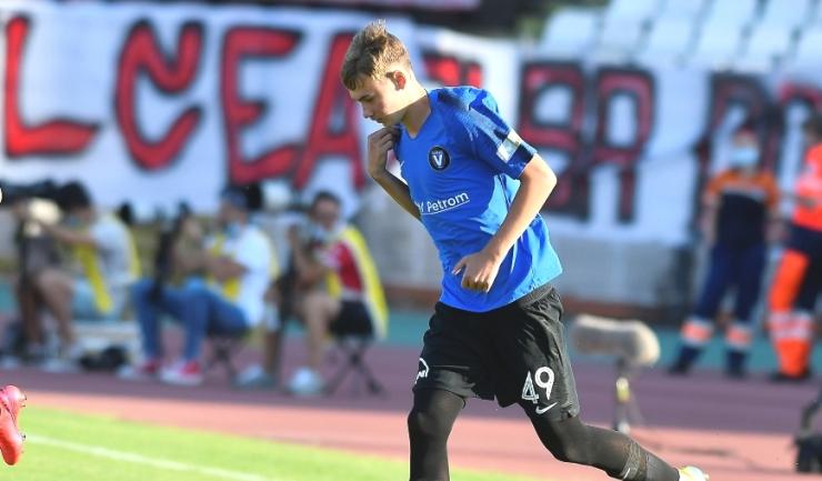Luca Andronache este campion național de juniori în 2020 cu FC Viitorul U19 (sursa foto: www.fcviitorul.ro)