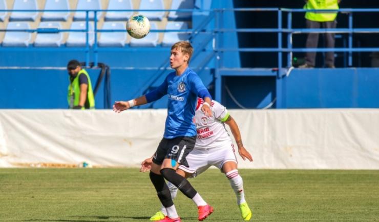Atacantul Luca Andronache a reuşit o dublă pentru FC Viitorul II în partida de la Albeşti (sursa foto: www.fcviitorul.ro)