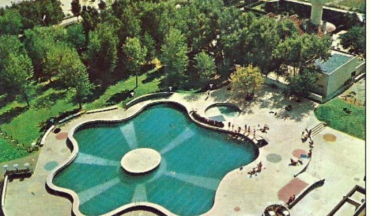 Mamaia- vedere din Complexul Patria-National-Unirea, anii 70, foto: facebook - Litoralul de altadata