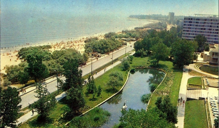 Mamaia - vedere din Hotel Doina 1977, foto: facebook - Litoralul de altadata
