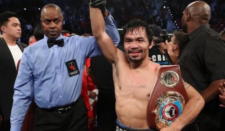 Manny Pacquiao a câștigat încă o dată centura de campion mondial WBO!