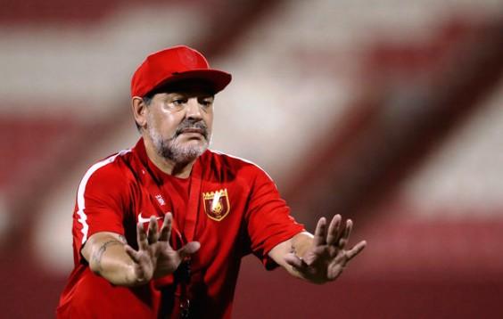 Maradona a antrenat ultima dată formația Al Fujairah, din Emiratele Arabe Unite (sursa foto: www.zimbio.com)