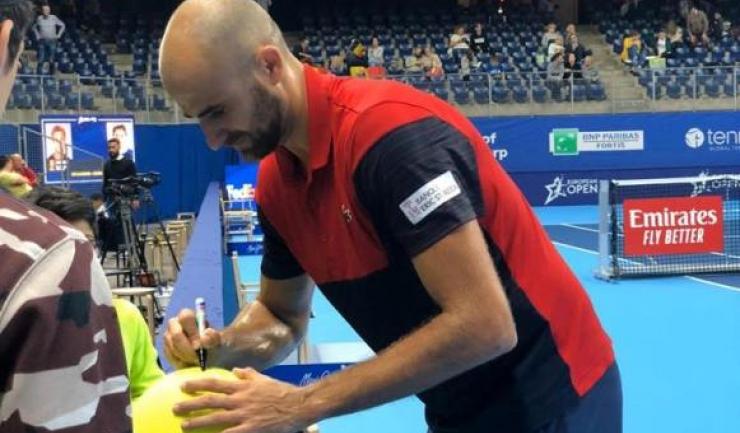 Marius Copil a fost la un pas de prezenţa în semifinalele turneului de la Antwerp (sursa foto: Facebook Marius Copil)