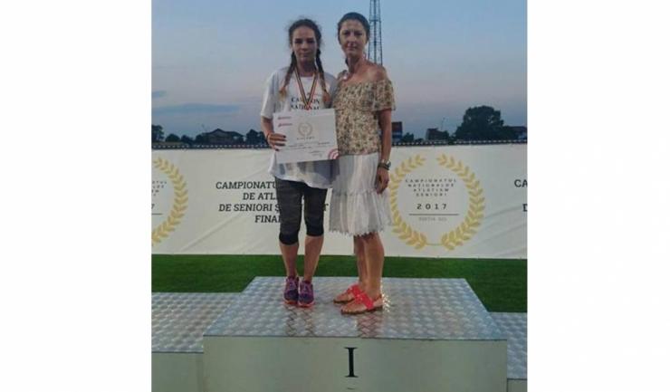 Ioana Manoliu, sportivă pregătită de antrenoarea Carmen Botea, a cucerit trei medalii la Pitești (sursa foto: Facebook)