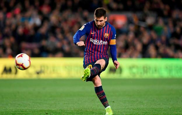Argentinianul Lionel Messi se află pe primul loc