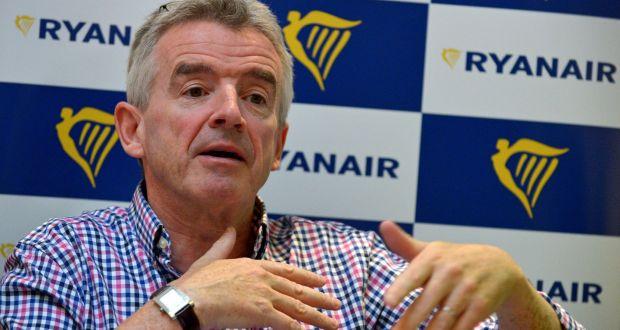Acţiunile Ryanair au crescut cu 2,9% după anunţul cu privire la reducerea flotei, un semn că investitorii îl susţin pe CEO-ul Michael O'Leary în încercarea sa de a potoli conflictul