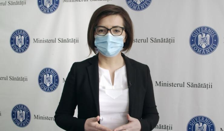 Ministrul Sănătății, Ioana Mihăilă. Foto: facebook