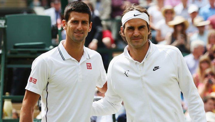 Novak Djokovic şi Roger Federer