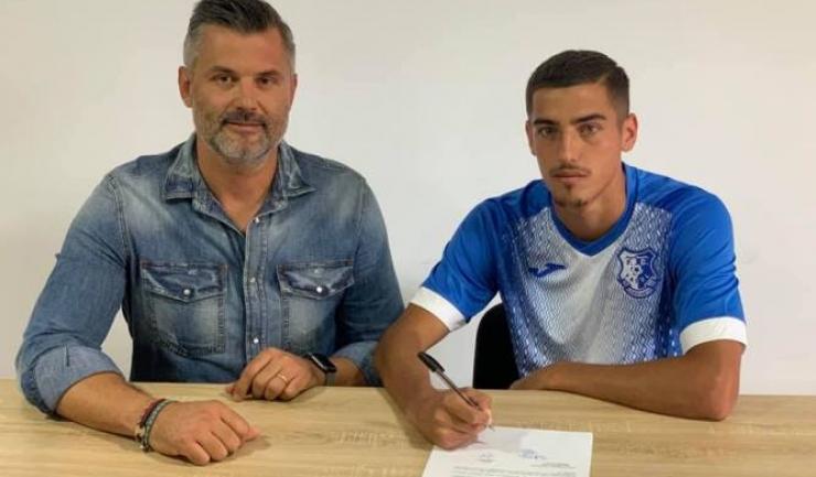 Tiberiu Curt, manager FC Farul, şi Alexandru Nicola (sursa foto: Facebook FC Farul Constanța)