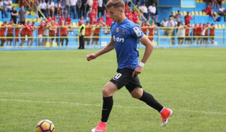 Denis Drăguş a înscris cele două goluri pentru Viitorul II în partida de la Slobozia