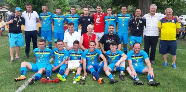 CS Peștera a sărbătorit câştigarea Ligii a V-a (sursa foto: Facebook Dornik de Sport)