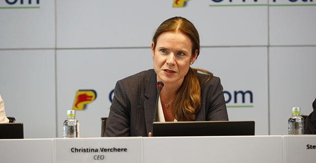 """Șeful OMV Petrom, Christina Verchere: """"În 2019, din cauza instabilității legislative, reducem cu 17% nivelul investițiilor, de la 4,3 la 3,7 miliarde lei"""""""