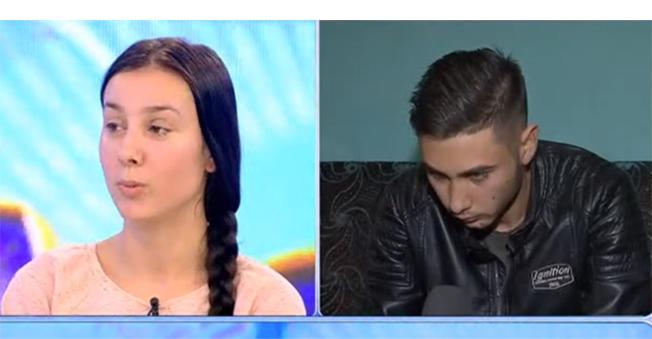Ionela și Nicușor într-o apariție TV