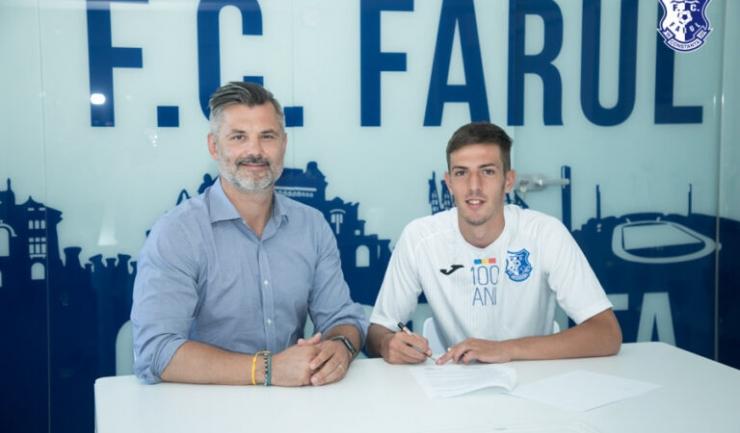 Tiberiu Curt, manager FC Farul , şi Aurel Pirciu (sursa foto: www.fcfarulconstanta.ro)