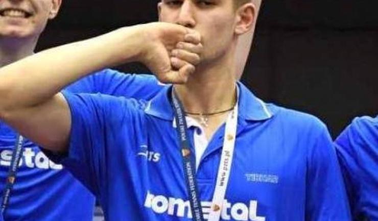 Cristian Pletea a fost singurul sportiv din Europa care a ajuns în sferturile de finală ale întrecerii mondiale (sursa foto: Facebook Federația Română de Tenis de Masă)