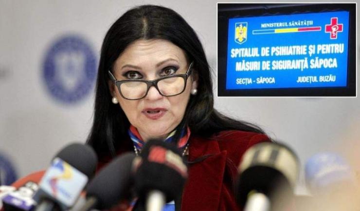 """Sorina Pintea: """"Imediat după tragedia de la Săpoca am declanşat control la toate unităţile de psihiatrie din ţară. Este primul control când s-a stipulat că se verifică calitatea actului medical"""""""