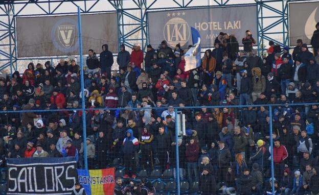 Spectatorii prezenţi duminică la partida FC Viitorul - FC Botoşani au purtat formaţia constănţeană spre play-off