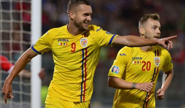 George Puşcaş (nr. 9) a înscris golul victoriei în meciul de la Ploieşti (sursa foto: www.frf.ro)