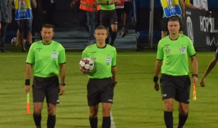 Arbitrul Radu Petrescu a condus la centru partida CSKA Moscova - Dinamo Zagreb