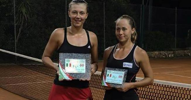 Raluca Şerban (stânga) a învins în finala de la Santa Margherita o tenismenă mai experimentată