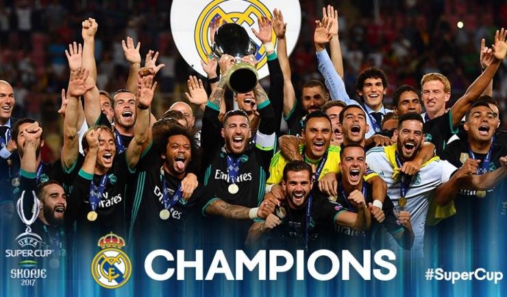 """""""Galacticii"""" au mai obţinut un trofeu important (sursa foto: Facebook UEFA Champions League)"""
