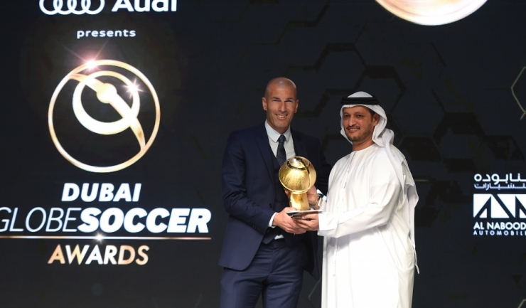 Echipa lui Zinedine Zidane, Real Madrid, a obținut trei premii la gala Globe Soccer