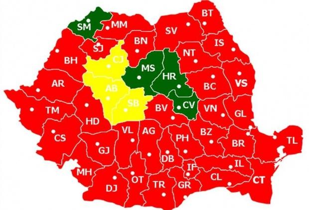 Harta României S A Colorat în Roșu Victorie Zdrobitoare A Psd